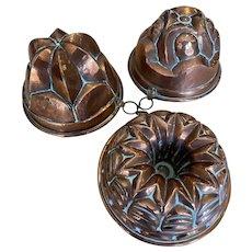 Antique Copper Moulds
