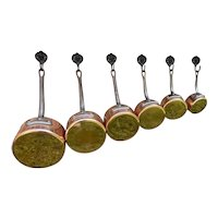 Vintage French Stamped Copper Pans
