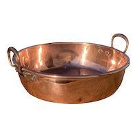 Antique French Copper Confiture Pan