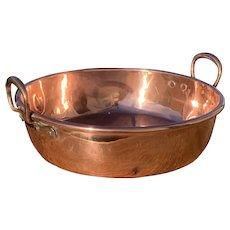 Antique French Copper Confiture Pan