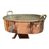 19th Century Copper Turbotiere Roasting Tray