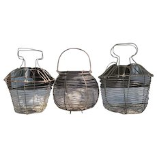 Antique French Egg Collection Baskets