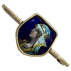 Antique Limoges Enamelled Brooch