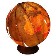 Encyclopedia Britannica globe lamp