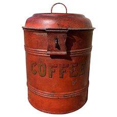 19th Century English Coffee Tin