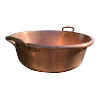 19th Century Enormous French Copper Confiture Pan