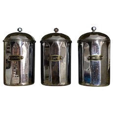 French Kitchen Cannisters 1930s