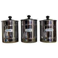 French 1950s Kitchen Cannisters