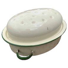Antique French Ceramic Roaster