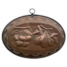 Antique French Copper Jelly Mould