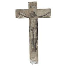 18th Century French Plaster Cross