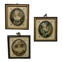 Antique French Celluloid Panel Miniatures