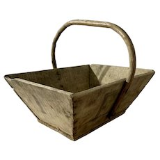 Antique French Wood Trug