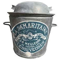 Vintage French Washing Boiler Bucket