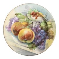 Antique Limoges China Hand Painted Plate Fruit