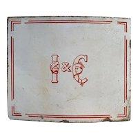 Antique Enamel Tea Company Sign