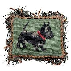 Antique Needle Point Pin Cushion Irish Terrier