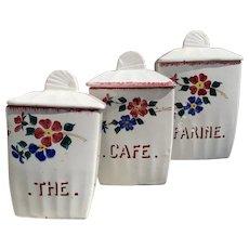 1920s French Kitchen Storage Jars