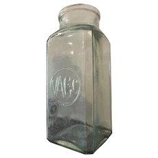 Large Antique French Glass Jar Vase