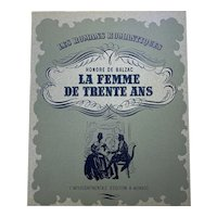 La Femme De Trente Ans Antique French Book