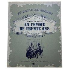 La Femme De Trente Ans Antique French Book