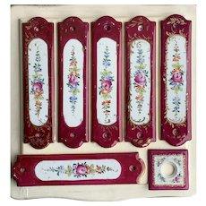 Vintage Limoges Porcelain Finger Plates