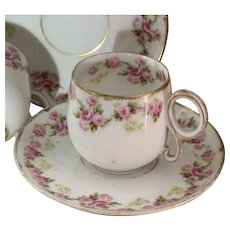 Pair of Vintage Limoges Cups and Saucers