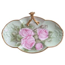 Limoges Porcelain Hand Painted Tray 1904