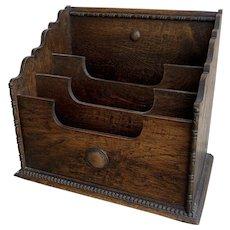 Victorian Mahogany Desk Tidy Magazine Rack