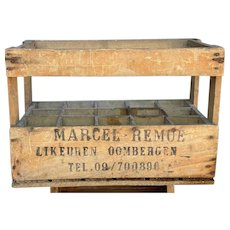 Vintage Belgian Bottle Crate