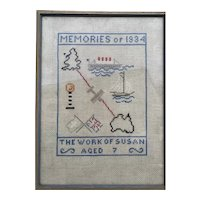 Needlework 1934 Americas Cup