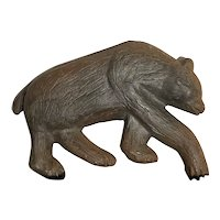 Vintage Metal Cast Bear