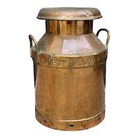 Antique Copper Milk Churn