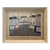 French School Modernist Oil on Board
