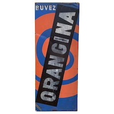 French 1950s Orangina Sign