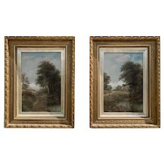 Pair of 19th Century Oil on Canvas