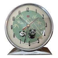 Vintage Panda Animated Alarm Clock 1970s