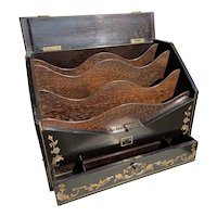 19th century French Rosewood Papeterie Stationary Box