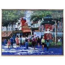 Parisian Watercolour Street Scene 1945