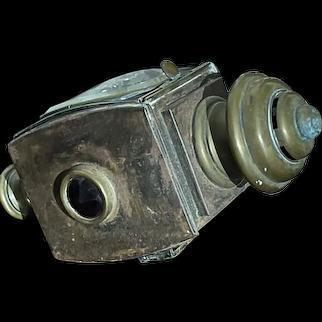Antique Bleriot Paris Brass Carriage Lantern