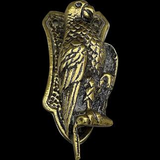 Vintage Brass Parrott Door Knocker