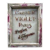 Vintage Window with Perfume Advert