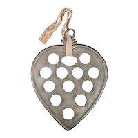 19th Century Pewter Heart Spoon Rack