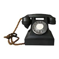 A Vintage Bakelite Telephone with Braided Cord - 30335