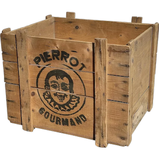 Antique French Pierrot Shipping Crate