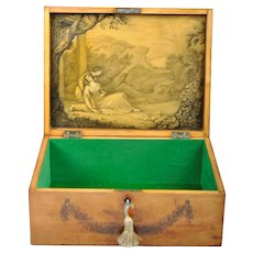 19th Century Georgian English Satinwood Box