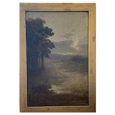 Antique Scottish Oil on Canvas