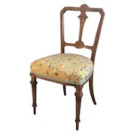 Victorian Occasional Chair with Alice in Wonderland Liberty Fabric