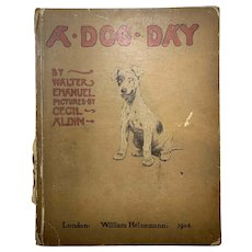 A Dog Day Antique Book 1904