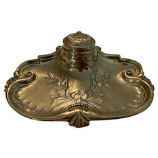 Art Nouveau Brass Ink Well
